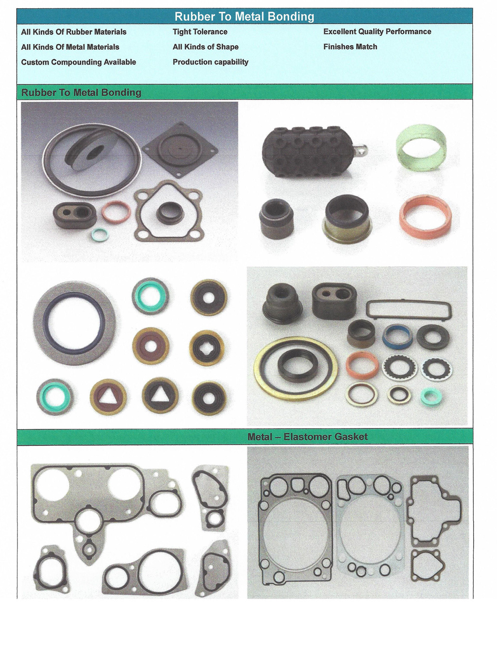 Custom Molded Parts and O-Rings Midwest Gasket Corp.